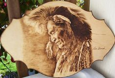Image detail for -pyrography by Jean bouick: Pyrography art by Jean . Wood Burning Crafts, Wood Burning Patterns, Wood Burning Art, Wood Crafts, Woodworking Furniture Plans, Woodworking Projects That Sell, Woodworking Crafts, Pyrography, American Indians