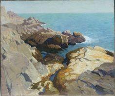 N. C. Wyeth (1882-1945) untitled (seascape) ca. 1922 / 1924 Oil on canvas, 25 x 30 in. (63.4 x 76.1 cm)