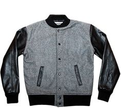 Reason Clothing | Sale | Alma Mater Varsity Jacket Grey/Black | Blackplanet Next