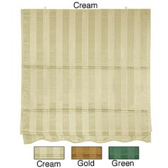 72-inch Striped Cotton-blend Roman Window Shade