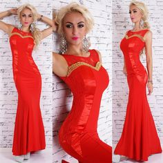 Robe longue femme rouge sublime