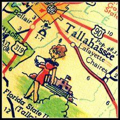 vintage map TALLAHASSEE