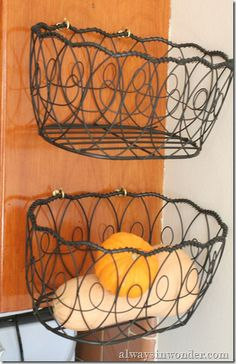 Alternative way to store fruit than the expensive baskets you buy online.