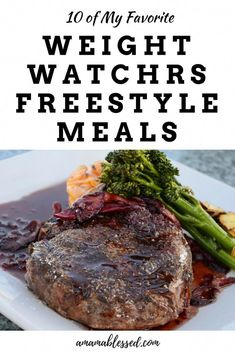 Are you looking for new Weight Watchers Freestyle meals? You won't be disappointed with my favorite ones. Weight Watchers has changed my life and it will yours too! These recipes will make you feel as if you aren't even on a diet! Weight Watchers Tipps, Weight Watchers Lunches, Weight Watchers Diet, Weight Watchers Smart Points, Weight Watcher Dinners, Weight Watchers Steak Recipe, Ww Recipes, Cooking Recipes, Healthy Recipes