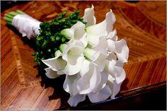 White #calla lillies