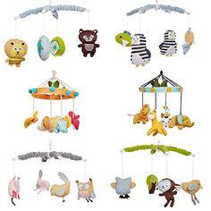 SmileBaby Musik Mobile Babybett Spieluhr Verschiedene Tiermotive Elefant  Schmetterling