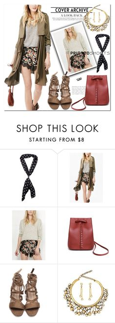 """""""yoins"""" by yoinscollection ❤ liked on Polyvore featuring printedshorts"""