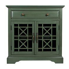 Jofran Craftsman 32 Accent Chest- Antique Jade (Green)