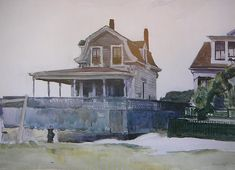 Edward Hopper (1882–1967) 'House Tour' ~ 'This is a painting of the original house in Gloucester, MA ~ photo #1