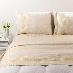 Lenzuola Matrimoniali Flanella Caleffi Coral Natur - Vendita online di biancheria per la casa