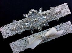 Wedding Garter /  Rhinestone Wedding Garter / by SimplyKateGrace, $26.00