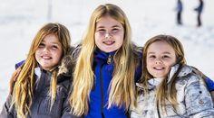 Princesses Alexia, Amalia and Ariane. Lech 22 February 2016.