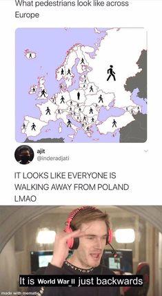 Crazy Funny Memes, Really Funny Memes, Stupid Funny Memes, Wtf Funny, Funny Relatable Memes, Funny Cute, Funny Posts, Hilarious, History Jokes