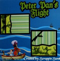 Disney Scrapbook Page Layouts | Disney Peter Pan Premade Scrapbook Pages 2 PG Layout 3 Day Auction ...