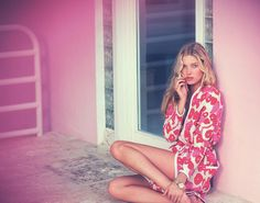 visual optimism; fashion editorials, shows, campaigns & more!: hot pink: elsa hosk by david bellemere for marie claire italia february 2015