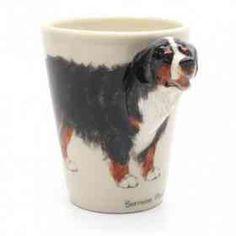 Bernese Mountain Dog Mug Ceramic Art Handmade Gifts Decor 0001