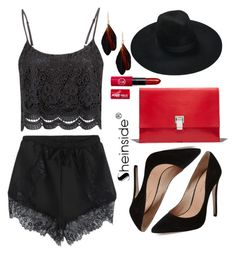 """""""Black and red"""" by ajla-p ❤ liked on Polyvore featuring mode, Maiden Lane en Proenza Schouler"""