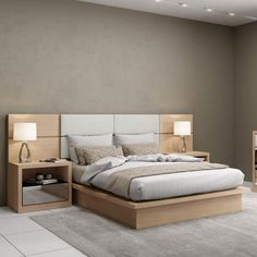 Couple Lower bed with no headboard Dalla Costa Natural - MadeiraMadeira Master Bedroom Interior, Bedroom Bed Design, Bedroom Furniture Design, Bed Furniture, Bedroom Decor, Furniture Layout, Furniture Online, Simple Bed Designs, Double Bed Designs