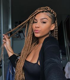 43 Cool Blonde Box Braids Hairstyles to Try - Hairstyles Trends Box Braids Hairstyles, Try On Hairstyles, Protective Hairstyles, Dreadlock Hairstyles, Hair Updo, Short Box Braids, Blonde Box Braids, Long Braids, Blonde Hair