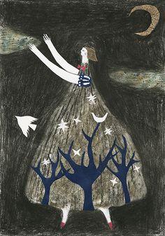 'Circus to travel' by Japanese artist & illustrator artist & illustrator Tetsuhiro Wakabayashi. Outsider Art, Japanese Artists, Pics Art, Gravure, Whimsical Art, Book Illustration, Art Inspo, Painting & Drawing, Illustrators