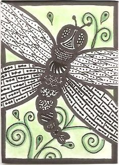 dragonfly...  doodles
