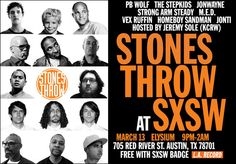 Jeremy Sole hosts the STONES THROW SHOWCASE   TUE 3/13 : 9pm with Jonti & Stepkids @ Elysium | 705 Red River St. Austin, TX 78701