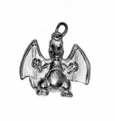 New Charizard Dragon fire type Pokemon figure Charm Sterling Silver .925 Jewelry Pocket Monsters