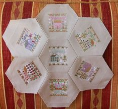 cross stitch organized in hexi design Cross Stitch House, Just Cross Stitch, Cross Stitch Finishing, Cross Stitch Needles, Cross Stitching, Cross Stitch Embroidery, Embroidery Patterns, Quilt Patterns, Modern Cross Stitch Patterns