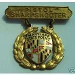 MARYLAND STATE POLICE PISTOL SHARPSHOOTER pin
