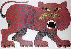 Hubert Hilscher, Circus, Roaring Tiger, Polish Poster, 1970