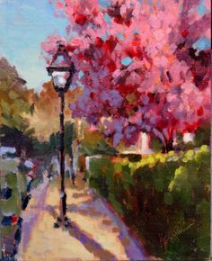 "charleston paintings | Mary's Paintings: ""Colorful Spring on Glebe Street - Charleston, SC ..."