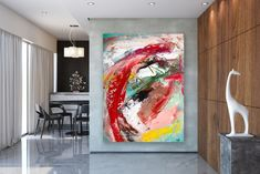 Items similar to Large Painting on Canvas,Original Painting on Canvas,painting original,unique bedroom decor,modern wall canvas on Etsy Modern Oil Painting, Large Painting, Knife Painting, Nursery Bedding Sets Girl, Bathroom Wall Art, Modern Wall Decor, Abstract Wall Art, Abstract Paintings, Texture Art