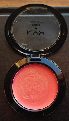 NYX Cream Blush in Tickled. Great coral color with slight golden shimmers. I love this color.