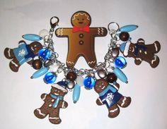 Christmas Charm Bracelet Gingerbread Man Bracelet by Jynxx on Etsy #gingerbread #holiday #jewelry #halloweenartistbazaar