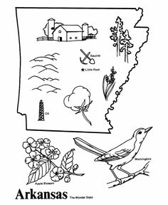 arkansas state coloring page