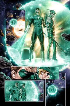 Green Lantern and Green Arrow by Mauro Cascioli