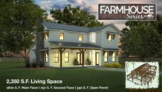Farmhouse Series 44x42 timber frame style home main header image