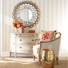 French Honeycomb Mirror