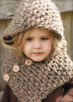 Ravelry: The Hampton Hood pattern by Heidi May Makes me want to learn to Crochet. Knitting Projects, Crochet Projects, Knitting Patterns, Crochet Patterns, Crochet For Kids, Crochet Baby, Knit Crochet, Ravelry Crochet, Heidi May