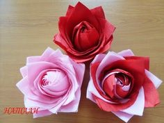 Цветок из салфеток! Flower from napkins! - YouTube Diy Wedding Decorations, Christmas Decorations, Serviettes Roses, Paper Crafts, Diy Crafts, Napkin Folding, Paper Flowers Diy, Paper Napkins, Diy For Kids
