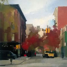 Lisa Breslow, Perry Street 2014, Oil and pencil on panel