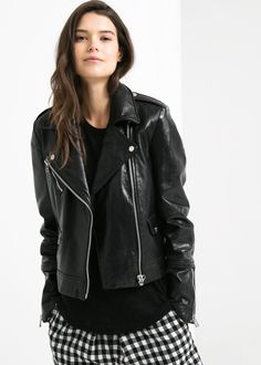 Leather biker jacket $249.99