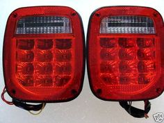 for my Jeep Wrangler LED Tail Lights Red Lens TJ eBay