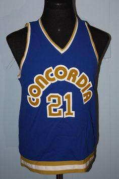 11c2c905d Vintage 80s Game Used Minnesota Concordia Golden Bears Basketball Jersey 42  Sports Jerseys