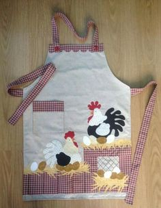 Ideas embroidery designs simple quilt patterns for 2019 Vintage Embroidery, Embroidery Patterns, Chicken Quilt, Chicken Pattern, Chicken Crafts, Sewing Projects, Sewing Crafts, Cute Aprons, Easy Quilt Patterns