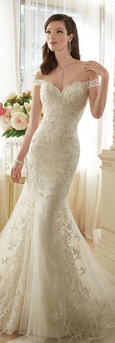 The Sophia Tolli Spring 2016 Wedding Dress Collection - Style No. Y11634 - Loraina #lacetrumpetweddingdress