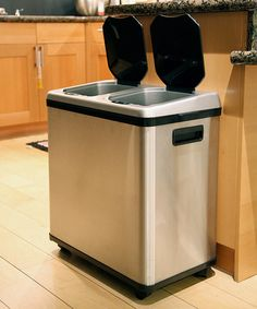 Love this 16-Gallon Dual-Compartment Automatic Sensor Touchless Recycle Trash Can by iTouchless on #zulily! #zulilyfinds