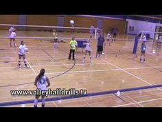 Shuffle Challenge-Diagonal Pass Volleyball Drill...the girl passing has such bad…