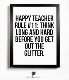 Think long and hard before you get out the glitter.