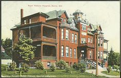 Royal Victoria Hospital, Barrie, Ontario, Canada.   Date: 1910